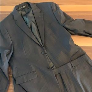 Pronto-Uomo Couture Pinstriped Suit - 46R - 38W